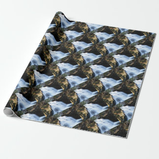 widening waterfalls wrapping paper