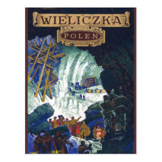 Wieliczka Polen / Poland Travel Salt Mine Art Postcard