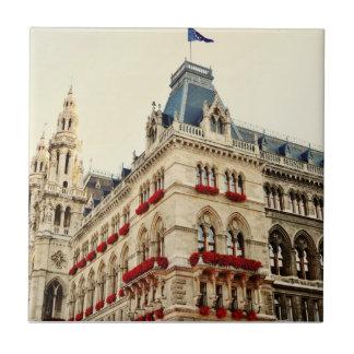 Wien architecture small square tile