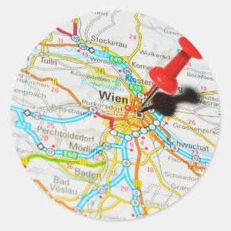 Wien, Vienna, Austria Classic Round Sticker