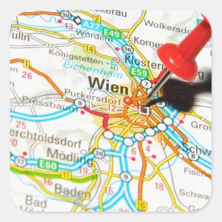 Wien, Vienna, Austria Square Sticker