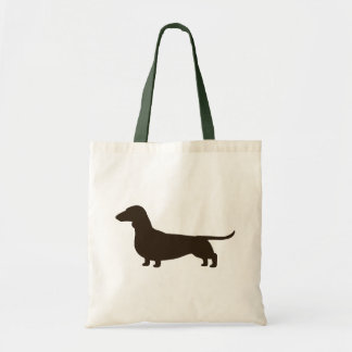 Wiener Dog Silhouette (Short Haired Dachshund) Budget Tote Bag