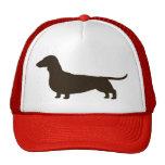 Wiener Dog Silhouette (Short Haired Dachshund) Hat