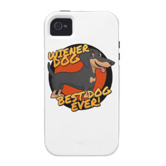 Wiener Dog - the Best Dog Ever Vibe iPhone 4 Cover