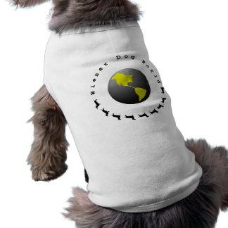 Wiener Dog World Graphic Sleeveless Dog Shirt