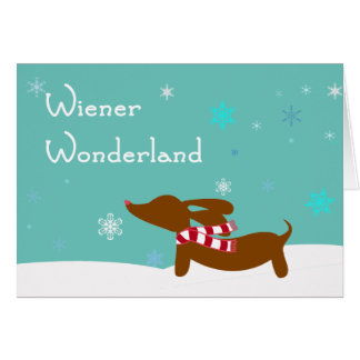 Wiener Wonderland Dachshund Card