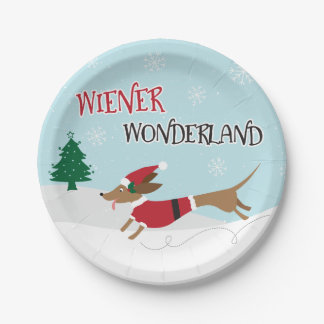 Wiener Wonderland Paper Plate