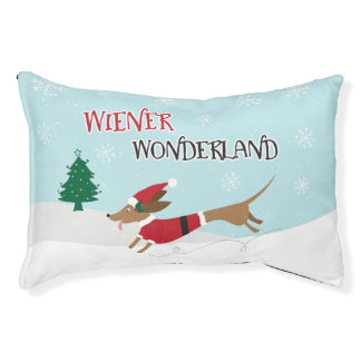 Wiener Wonderland Pet Bed