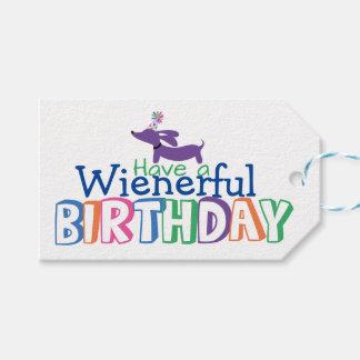 Wienerful birthday Dachshund Gift Tags