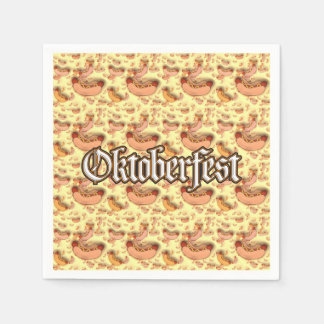 Wieners And Brats! Oktoberfest Party Paper Napkins Disposable Napkin
