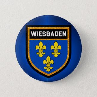 Wiesbaden Flag 6 Cm Round Badge