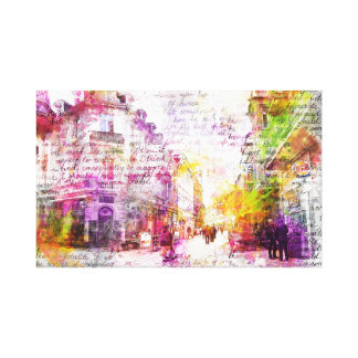 Wiesbaden, Germany. Decay text kind Canvas Print