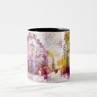 Wiesbaden, Germany. Decay text kind Two-Tone Coffee Mug