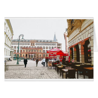 Wiesbaden, market place, city hall - Germany Card