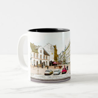 Wiesbaden, market place, Street view - Germany Two-Tone Coffee Mug