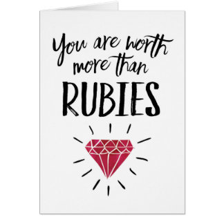 Wife Anniversary - You're worth more than Rubies Card