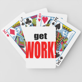 WIFE BLAMING blame husband work going red job get Bicycle Playing Cards