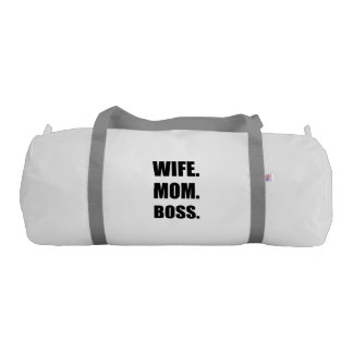 Wife Boss Mom Gym Duffel Bag