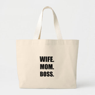 Wife Boss Mom Large Tote Bag