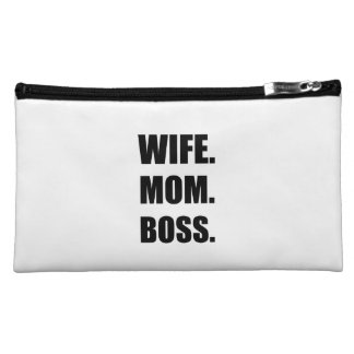 Wife Boss Mom Makeup Bag