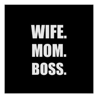 Wife Boss Mom Poster