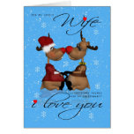 Wife Christmas Greeting Card With Reindeer