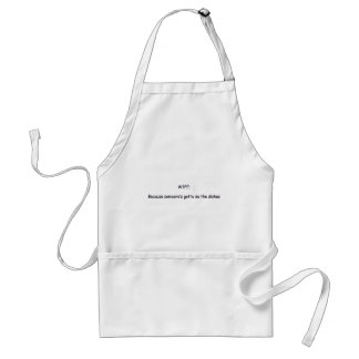 WIFE=DISHES STANDARD APRON