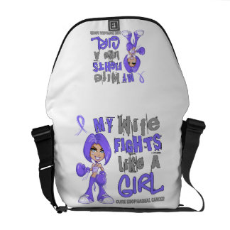 Wife Fights Like Girl 42 9 Esophageal Cancer Courier Bag