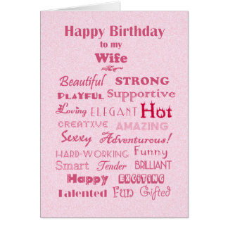 Wife Happy Birthday Words of Praise Card