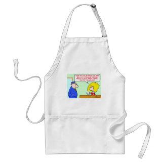 wife loves hell car keys apron