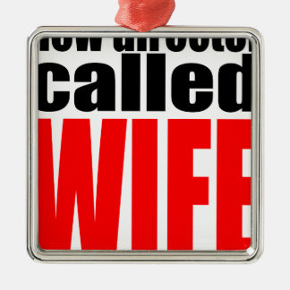wife marriage joke director newlywed reality quote Silver-Colored square decoration