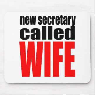 wife marriage joke marrying newlywed reality quote mouse pad