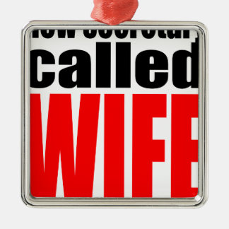 wife marriage joke marrying newlywed reality quote Silver-Colored square decoration