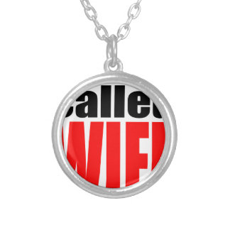 wife marriage joke marrying newlywed reality quote silver plated necklace