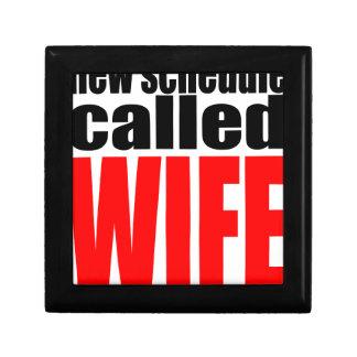 wife marriage joke schedule newlywed reality quote gift box