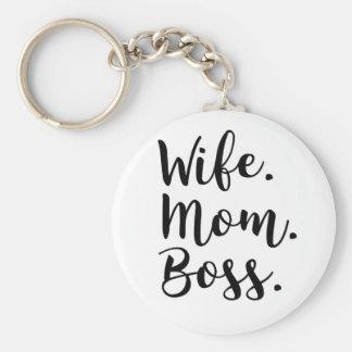 wife mom boss key ring
