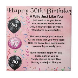Wife Poem - 50th Birthday Tile