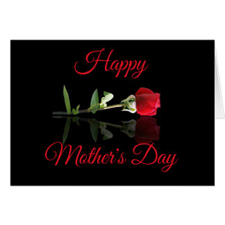 Wife Red Rose Happy Mother's Day From Husband Card