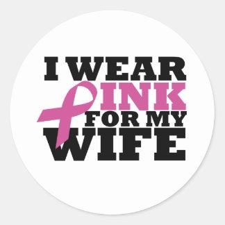 wife round sticker