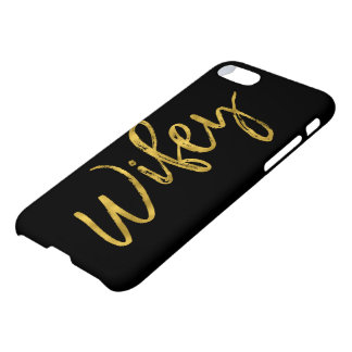 Wifey Black and Gold Foil Typography iPhone 8/7 Case