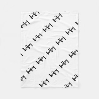 Wifey Brush Lettering Lumbar Pillow Fleece Blanket