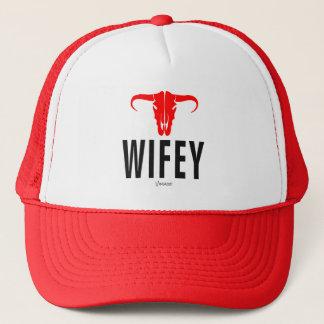 Wifey & Bull by VIMAGO Trucker Hat