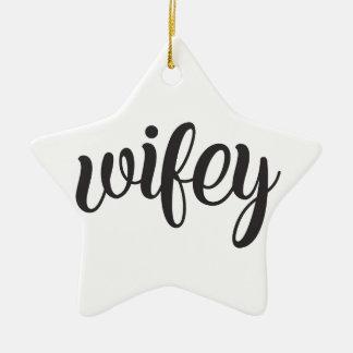 Wifey Ceramic Ornament