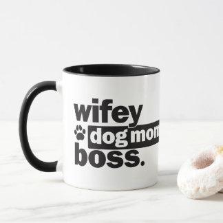 Wifey Dog Mum Boss Funny Coffee Mug
