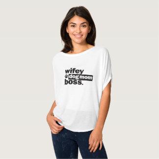 Wifey Dog Mum Boss Funny Shirt