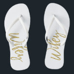6d5f6979c Wifey Flip Flops with Gold Foil Typography br  div class
