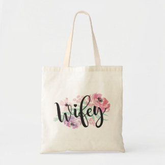Wifey Floral Tote Bag Bride To Be Gift Item