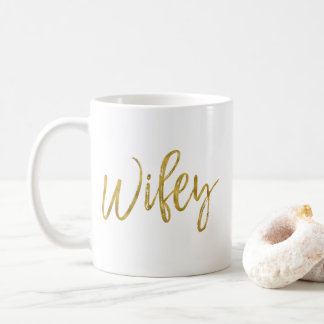 Wifey Gold Foil Birthday Coffee Cup