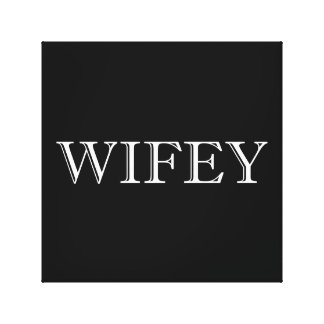 Wifey Married Couple Canvas Print