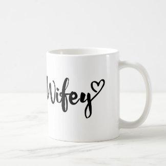 wifey mug, personalized wifey mug, couple mug, basic white mug